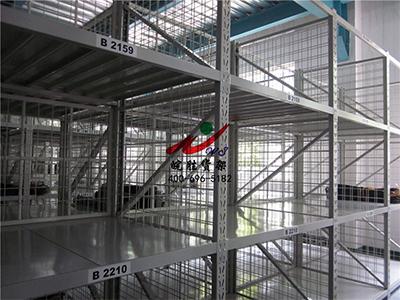 XX橡胶有限公司 中型货架+侧网背网