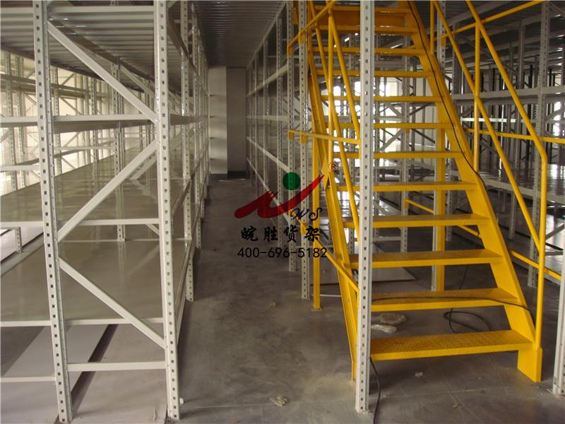 XX外贸进出口汽车配件有限公司 4S货架 阁楼货架