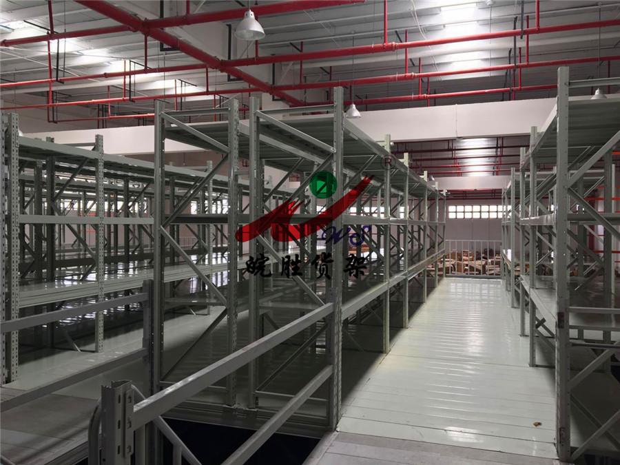 皖胜-上海XX机械配件有限公司 阁楼货架 悬臂货架